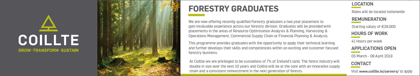Coillte Recruitment 2018