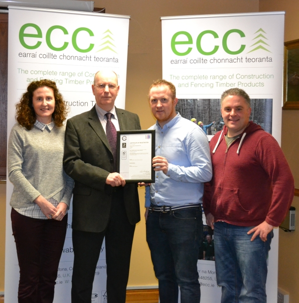 ECC presented with PEFC CoC Certification