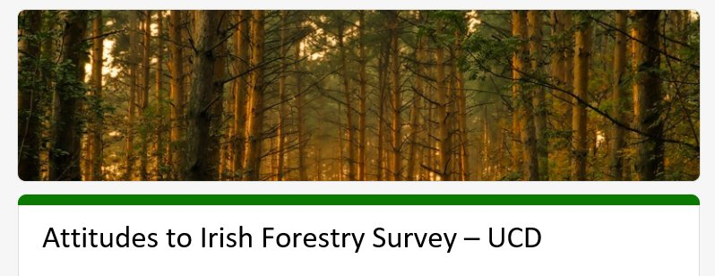 UCD Forestry Survey